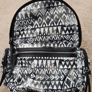 Backpack Black White No Boundaries Nylon